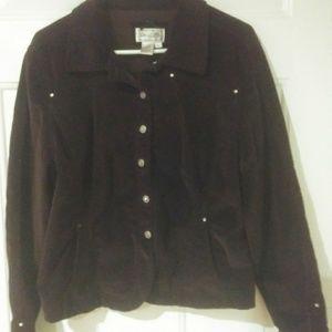 Live A Little Brown Corduroy Jacket